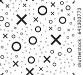 tile x o noughts and crosses...   Shutterstock .eps vector #641303773