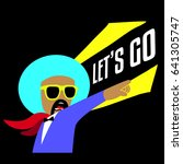 afro man say let us go | Shutterstock .eps vector #641305747