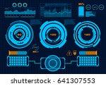 futuristic virtual graphic... | Shutterstock .eps vector #641307553