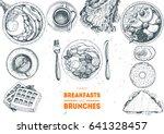 breakfasts and brunches top... | Shutterstock .eps vector #641328457