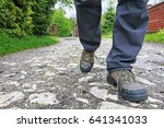 young person wearing hiking... | Shutterstock . vector #641341033