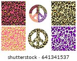 collection wallpaper and hippie ... | Shutterstock .eps vector #641341537