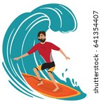 Vector Surfer Character In...