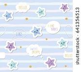 cute seamless pattern... | Shutterstock .eps vector #641356513