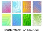 set of covers with geometric... | Shutterstock .eps vector #641360053