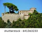 portofino mountains monastery | Shutterstock . vector #641363233