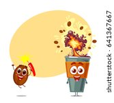two funny and happy character... | Shutterstock .eps vector #641367667