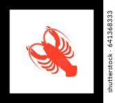 lobster simple vector button....