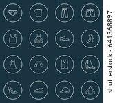 garment outline icons set.... | Shutterstock .eps vector #641368897