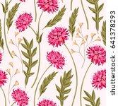 meadow flowers seamless | Shutterstock .eps vector #641378293