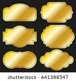 golden labels.vector... | Shutterstock .eps vector #641388547