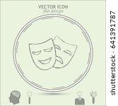 facial mask symbol line icon | Shutterstock .eps vector #641391787