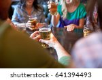 people  leisure and drinks... | Shutterstock . vector #641394493