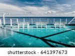 first person view from deck on... | Shutterstock . vector #641397673