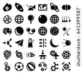 sphere icons set. set of 36... | Shutterstock .eps vector #641399587