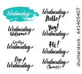 wednesday calligraphic set.... | Shutterstock .eps vector #641405407