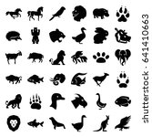 wild icons set. set of 36 wild... | Shutterstock .eps vector #641410663
