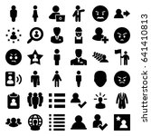 user icons set. set of 36 user... | Shutterstock .eps vector #641410813