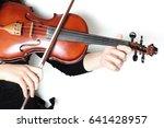 Violin Player Hands. Violinist...
