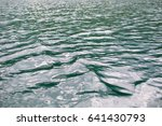 close up of lake water rippling | Shutterstock . vector #641430793