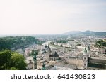 aerial view of salzburg ... | Shutterstock . vector #641430823