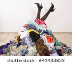 woman legs reaching out from a... | Shutterstock . vector #641433823