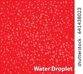 vector water droplet on red... | Shutterstock .eps vector #641438023