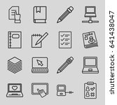 notebook icons set. set of 16... | Shutterstock .eps vector #641438047