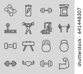 bodybuilding icons set. set of... | Shutterstock .eps vector #641448307