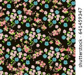 flowery bright pattern in small ... | Shutterstock .eps vector #641459347