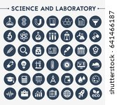 science and laboratory icon set | Shutterstock .eps vector #641466187