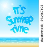 it's summer time poster | Shutterstock .eps vector #641467603