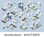 city three dimensional winter... | Shutterstock . vector #641471893