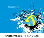 abstract grungy background with ... | Shutterstock .eps vector #64147228