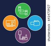 jack icons set. set of 4 jack... | Shutterstock .eps vector #641473927