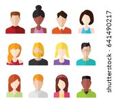 flat people icons. male and... | Shutterstock .eps vector #641490217
