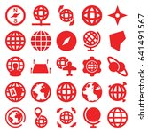 geography icons set. set of 25... | Shutterstock .eps vector #641491567