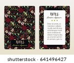 cover design with floral... | Shutterstock .eps vector #641496427