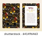 cover design with floral...   Shutterstock .eps vector #641496463