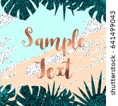 summer background with tropical ... | Shutterstock .eps vector #641499043