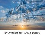double exposure container... | Shutterstock . vector #641510893