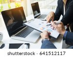 team work process. young... | Shutterstock . vector #641512117