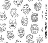 cute seamless pattern with... | Shutterstock .eps vector #641517613