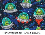 seamless pattern with cartoon... | Shutterstock .eps vector #641518693