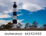 bodie island lighthouse stands... | Shutterstock . vector #641521933