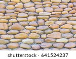 River Pebbles Round Stone Wall...