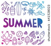 summer icon illustration doodle | Shutterstock .eps vector #641528023