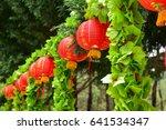 Red Festive Chinese Lanterns...