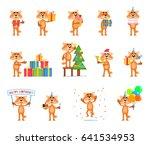 set of cartoon fox characters