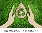 save water concept. paper cut... | Shutterstock . vector #641535277